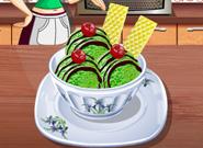 Мороженое с зелёным чаем